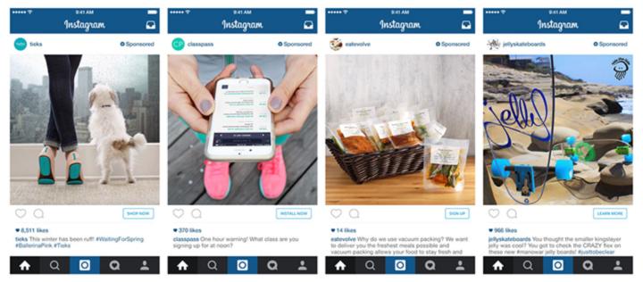 Esempio Post pubblicitario di instagram