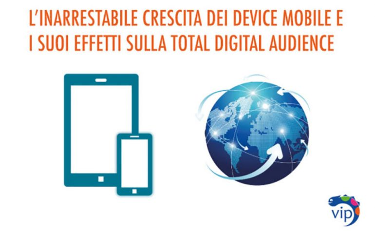 crescita device mobile e total digital audience