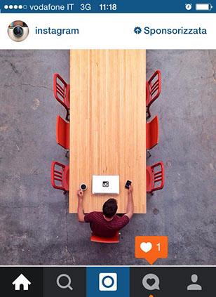 Esempio post sponsorizzato Instagram