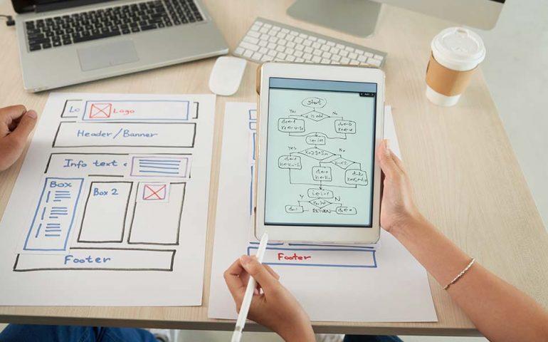 sistema di navigazione sito web